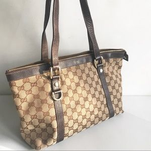 GUCCI logo ABBEY Shoulder Bag tote authentic gg